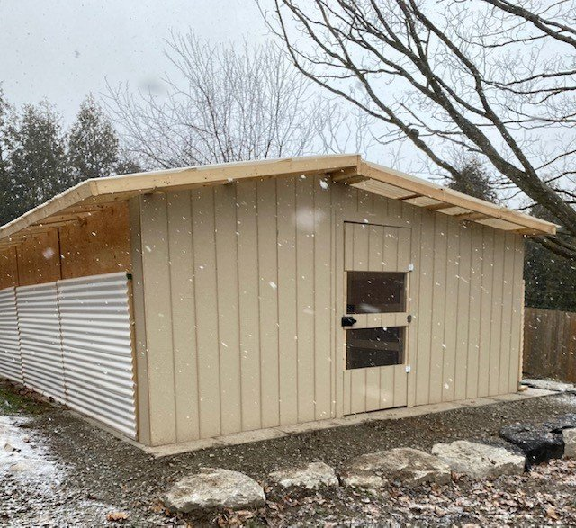 Small Mammal Enclosure Addition With Winter Panels