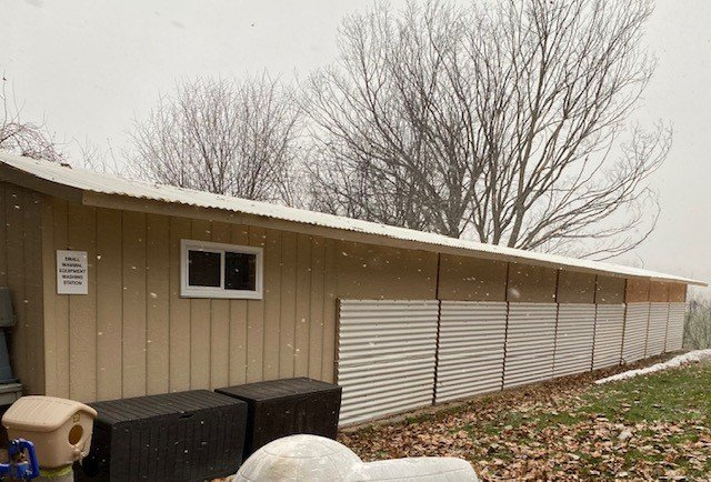 Small Mammal Enclosure Addition With Winter Panels 2