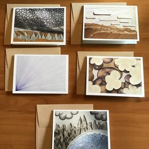 A-66-5 Small Card Pack B - Kathryn Allyn Handmade Greeting Cards - 5 pack