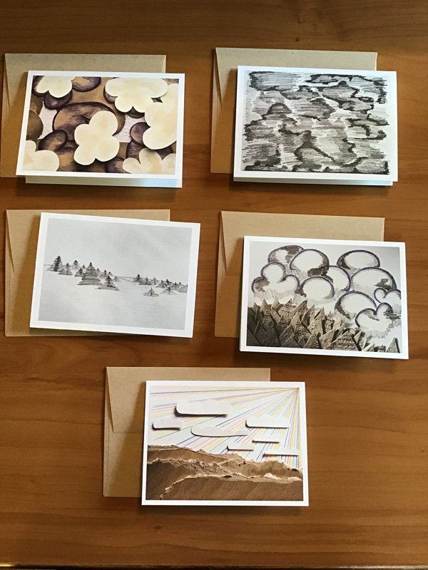 A-67-4 Small Card Pack C - Kathryn Allyn Handmade Greeting Cards - 5 pack