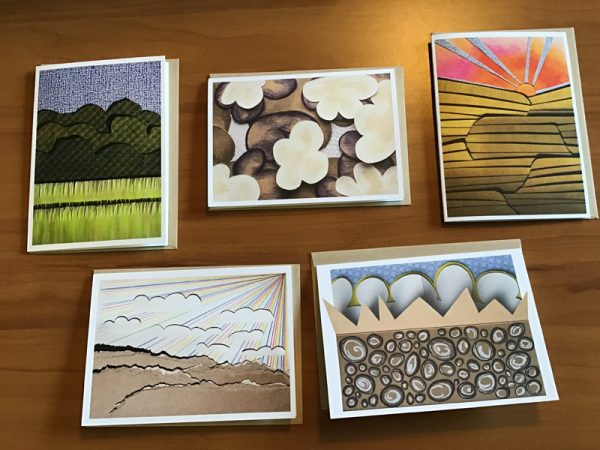 A-68-5 Large Card Pack A - Kathryn Allyn Handmade Greeting Cards - 5 pack