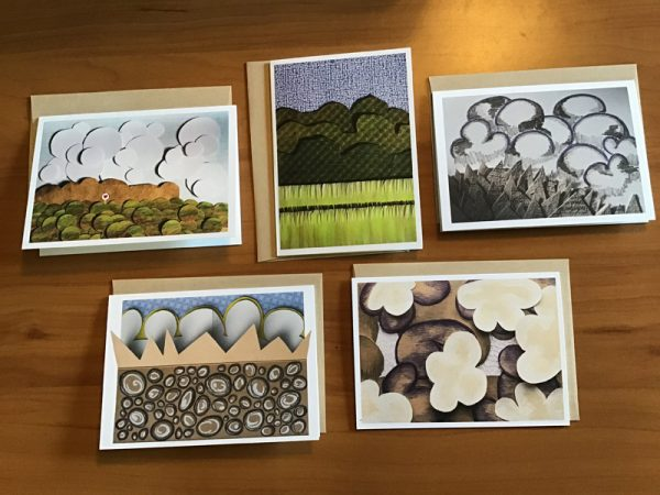 A-69-5 Large Card Pack B - Kathryn Allyn Handmade Greeting Cards - 5 pack