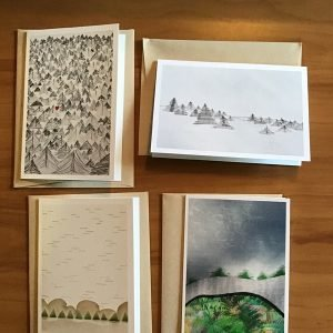 A-71-10 Holiday - Kathryn Allyn Handmade Greeting Cards - 4 pack