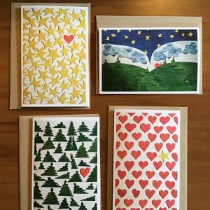 A-72-5 Thank You - Kathryn Allyn Handmade Greeting Cards - 4 pack