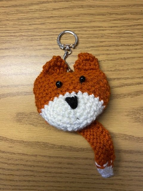 Hand Knitted Key Chain - featuring the FOX