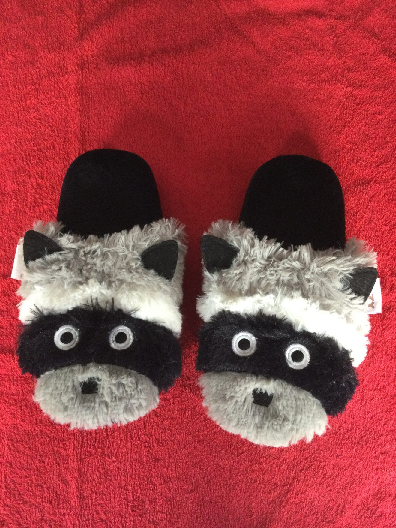 Comfy Raccoon Slippers